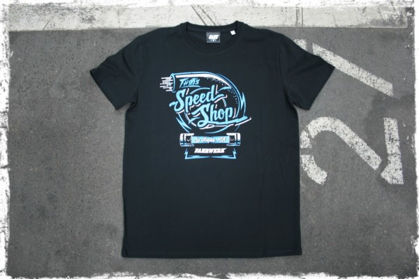 FAHRWERK_T-Shirt_THOR'S Speed Shop_Los Angeles_black_schwarz_automotive streetwear