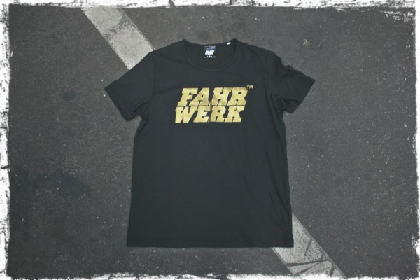 T-Shirt_Leonardo_FAHRWERK_schwarz_gold_german motorwear_automotive apparel